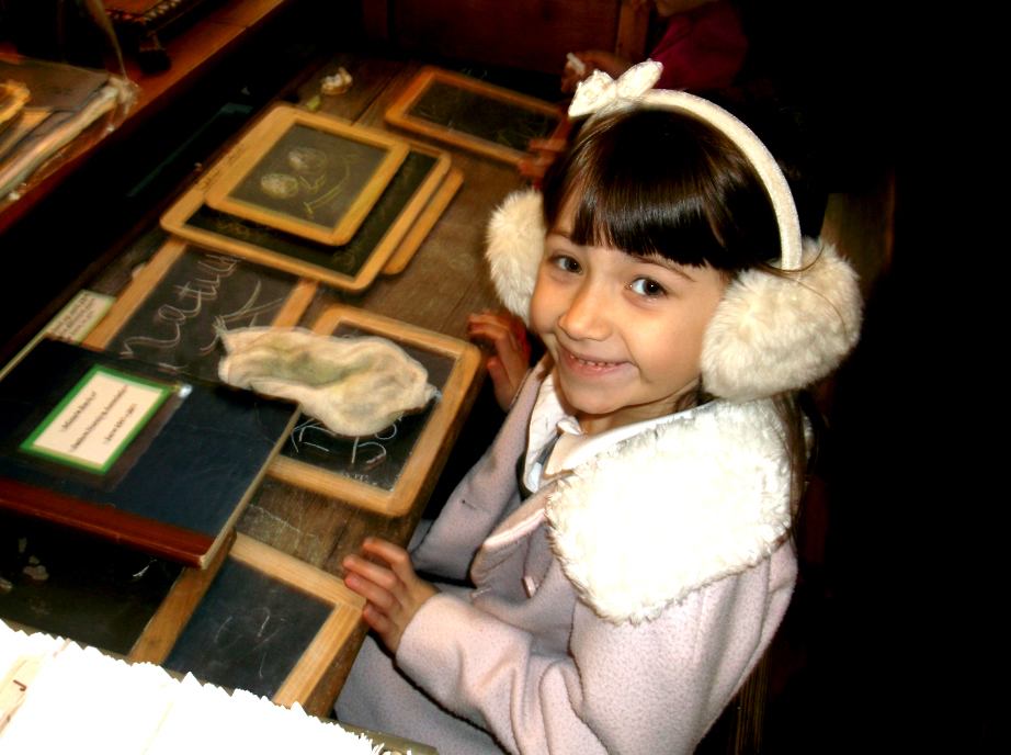 a young lady trials our Victorian tablets .. click to enlarge