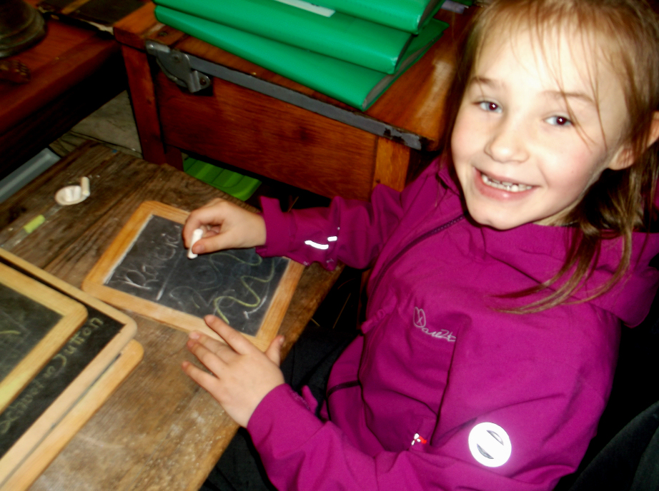 Our old school desks are always a big hit with those young enough to fit into them .. click to enlarge