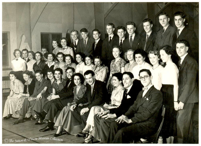 1953 Valentine's Day Dance, Sutton village hall