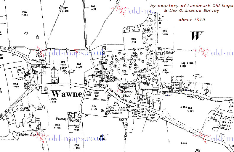 sample map of Wawne - click map to load full map at Old Maps
