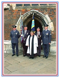 Service of Dedication of the RAF Association Standard commemorating the RAF School of Fire-Fighting and Rescue 1943 - 1959