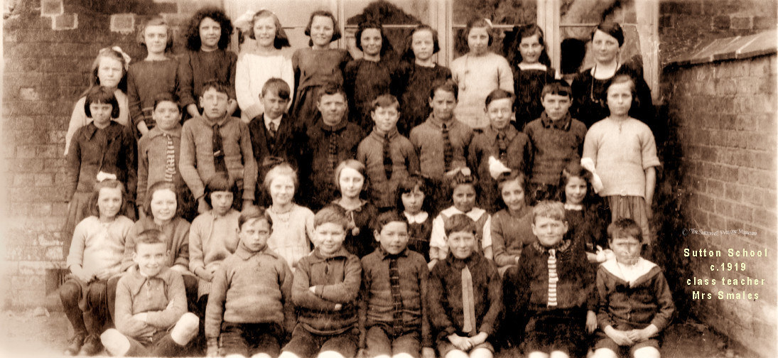 SuttonSch Class-photo-1919-Mrs Smales