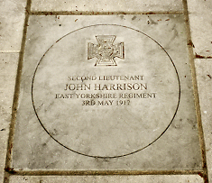 VC paver for Jack Harrison laid in Sutton War Memorial garden, 7th May 2017.