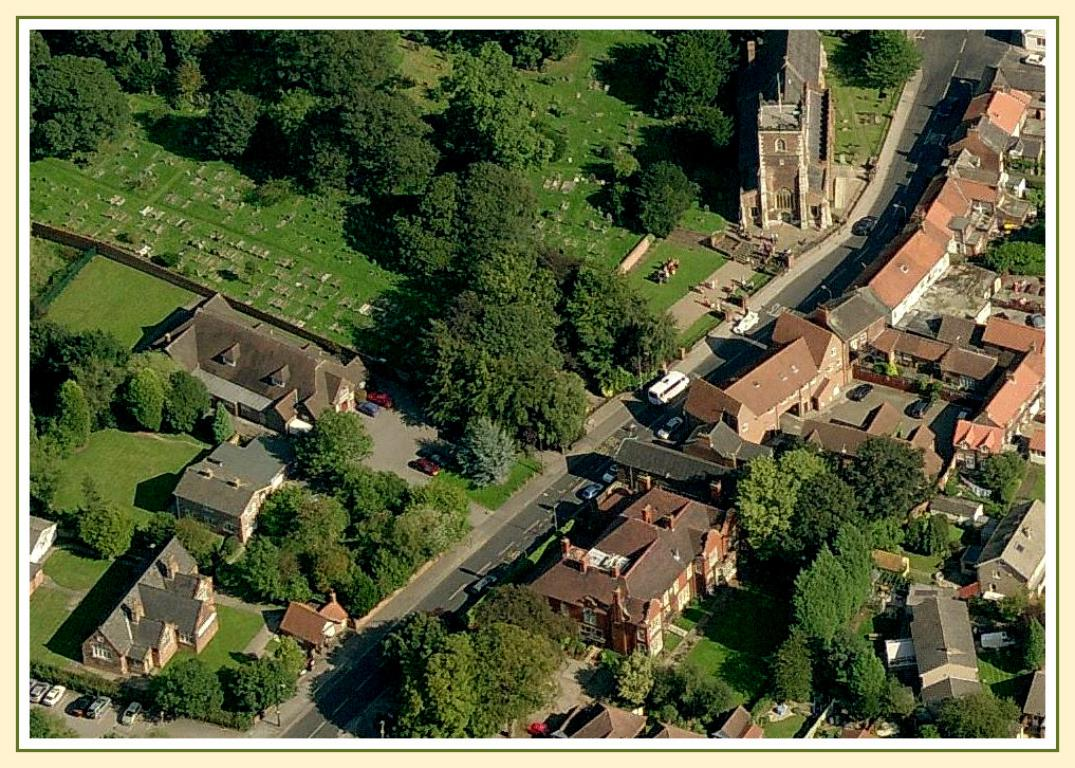 an unusual view of someone's wedding here at St James', viewed courtesy of Bing Maps bird's eye view